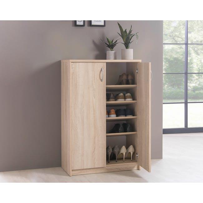 Levi 2-Door Shoe Cabinet - Oak - 2