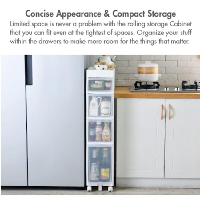 Krusty 4 Tier Rolling Storage Cabinet - 5
