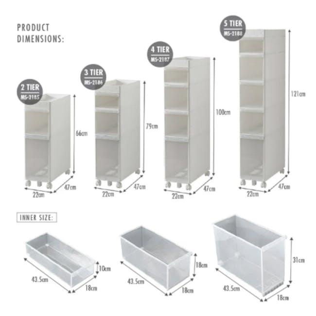 Krusty 4 Tier Rolling Storage Cabinet - 7