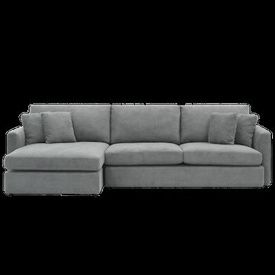 (As-is) Ashley L Shape Sofa - Grey - 1 - Image 1