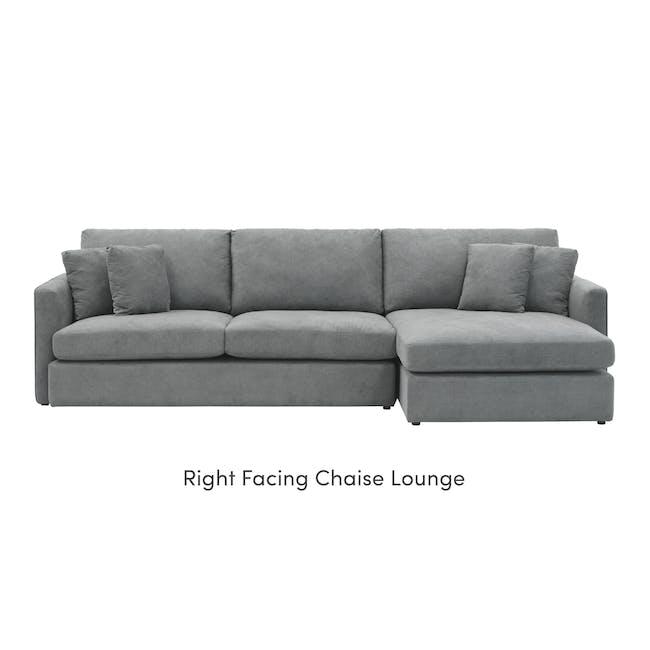 Ashley L-Shaped Lounge Sofa - Stone - 7