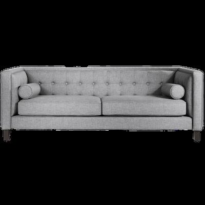 Saffron 3 Seater Sofa - Light Grey - Image 1