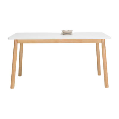 Kendall Dining Table 1.5m - Natural, White Lacquered - Image 2