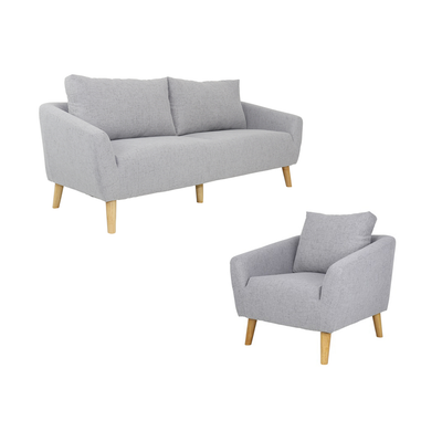 Hana 3 Seater and 1 Seater Living Room Set - Image 1