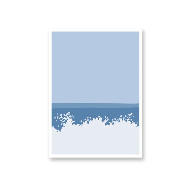 Borderless Graphic Art Print on Paper (2 Sizes) - Make Waves - 0