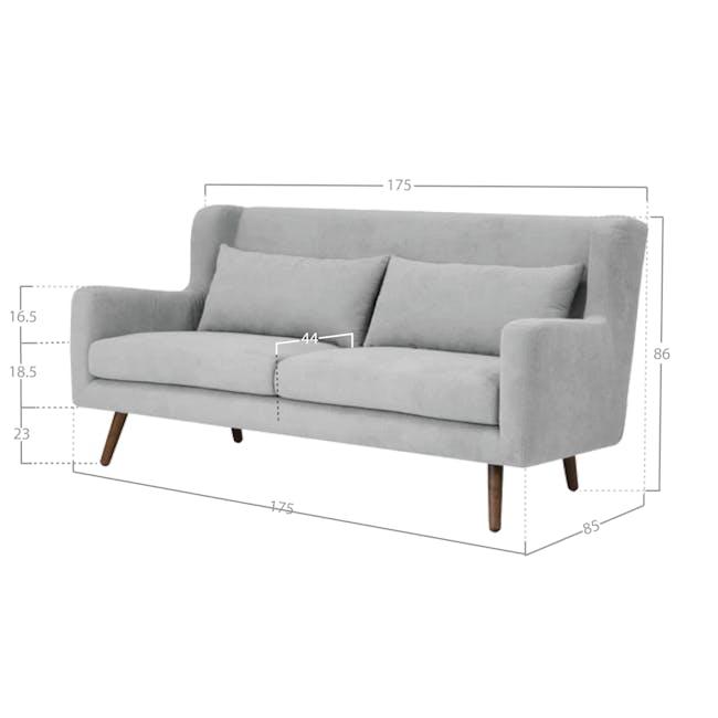 Luke 3 Seater Sofa - Gray Owl - 8