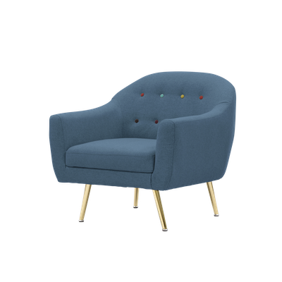 Arden Armchair - Blue - Image 2