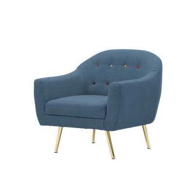 (As-is) Arden Armchair - Blue - 1 - Image 2