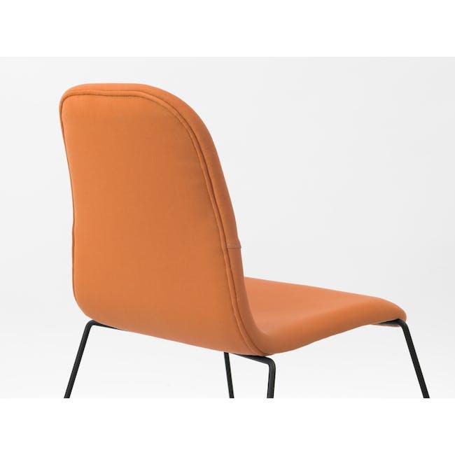 Ava Dining Chair - Matt Black, Tangerine - 1