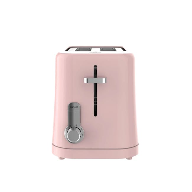 Odette Pastel 2-Slice Bread Toaster - Pink - 3