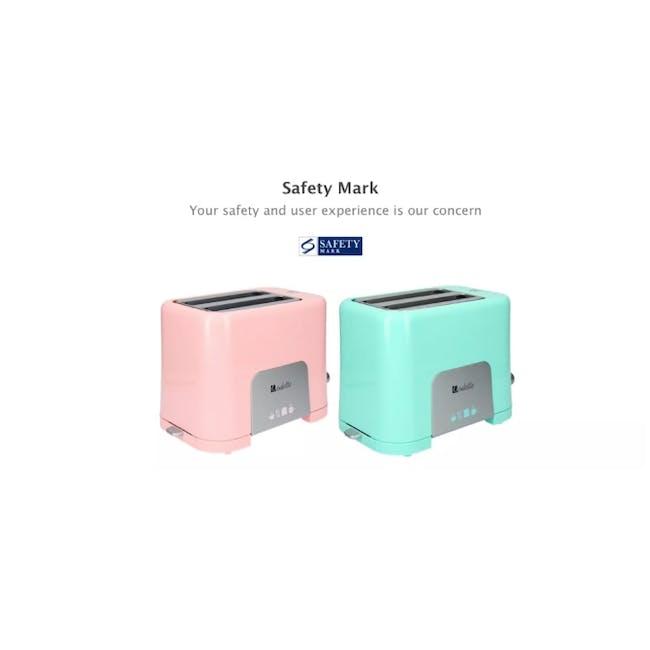 Odette Pastel 2-Slice Bread Toaster - Pink - 9
