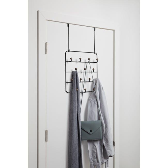 Estique Over-the-Door Organiser - Black, Walnut - 1