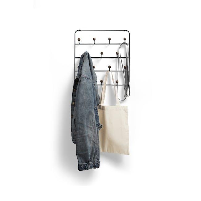 Estique Over-the-Door Organiser - Black, Walnut - 0