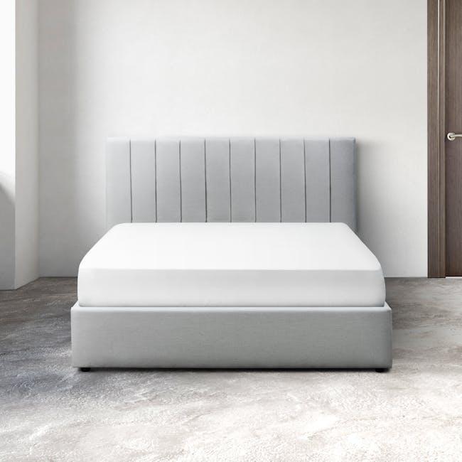 Audrey Queen Storage Bed - Silver Fox (Fabric) - 1