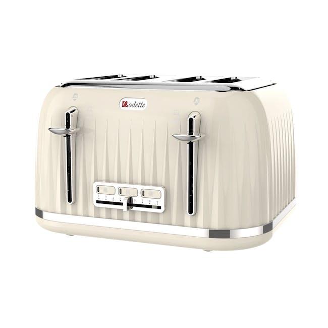 Odette Jukebox 4-Slice Bread Toaster - Beige - 0