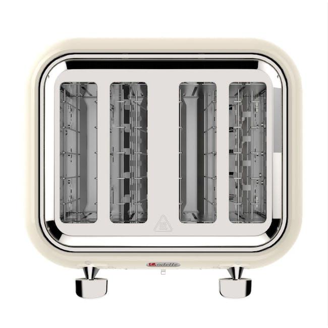 Odette Jukebox 4-Slice Bread Toaster - Beige - 4