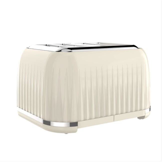 Odette Jukebox 4-Slice Bread Toaster - Beige - 2