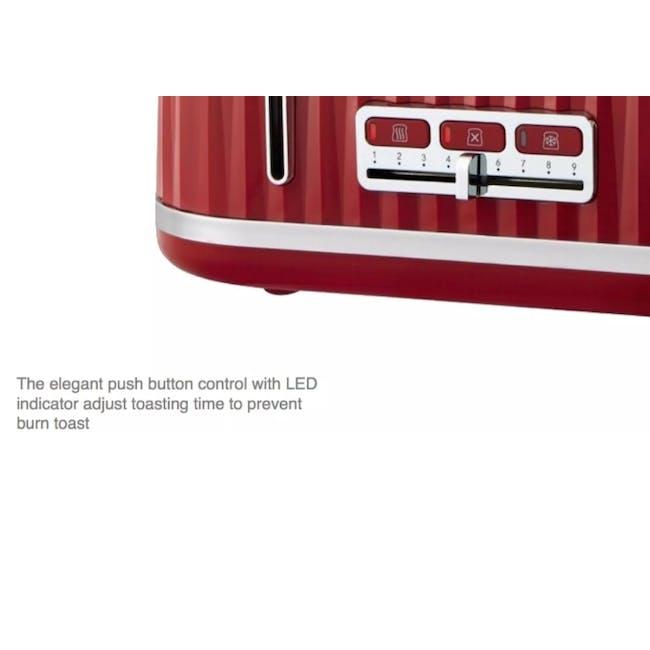 Odette Jukebox 4-Slice Bread Toaster - Beige - 5