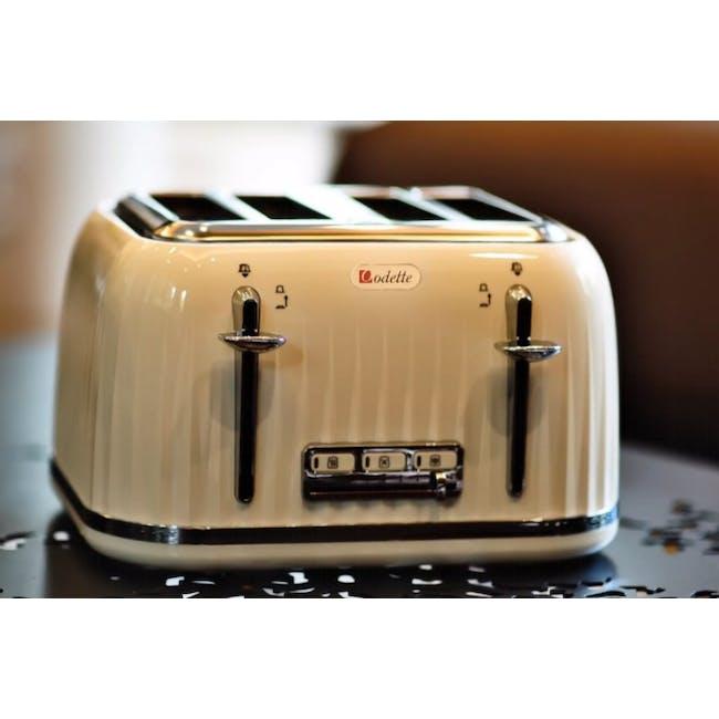 Odette Jukebox 4-Slice Bread Toaster - Beige - 1