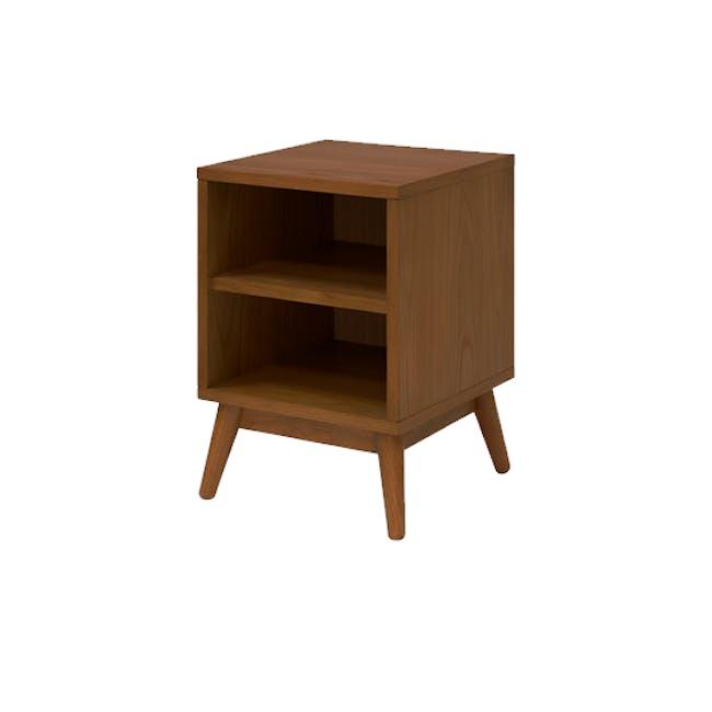 Kyoto Twin Shelf Bedside Table - Walnut - 0