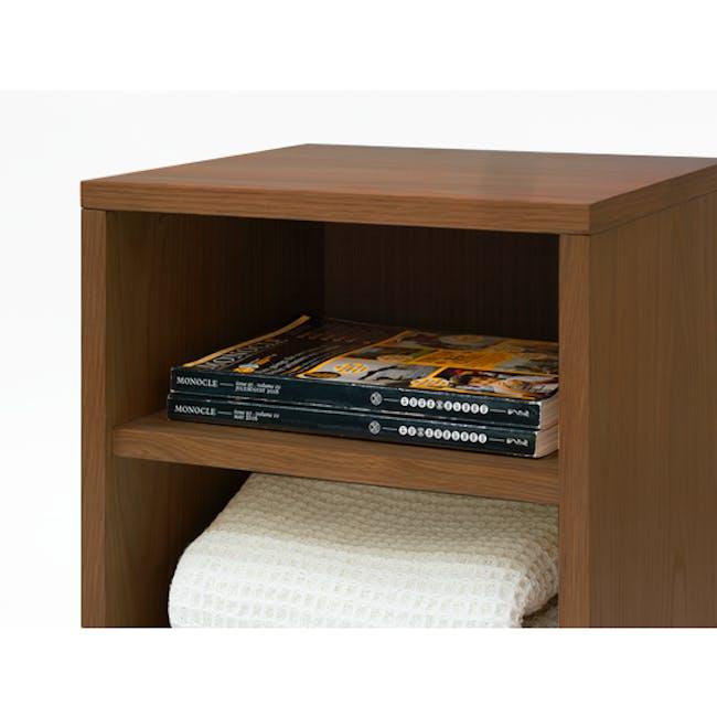 Kyoto Twin Shelf Bedside Table - Walnut - 1