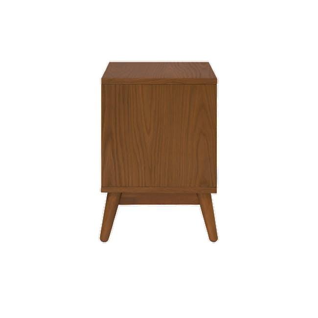 Kyoto Twin Shelf Bedside Table - Walnut - 3