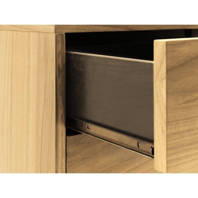 Kyoto Twin Drawer Bedside Table - Oak - 8