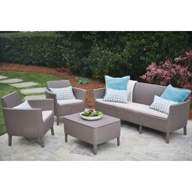 Salemo 3-Seater Lounge Sofa Set - Cappuccino - 1