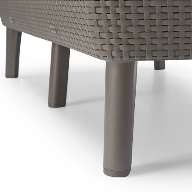 Salemo 3-Seater Lounge Sofa Set - Cappuccino - 8