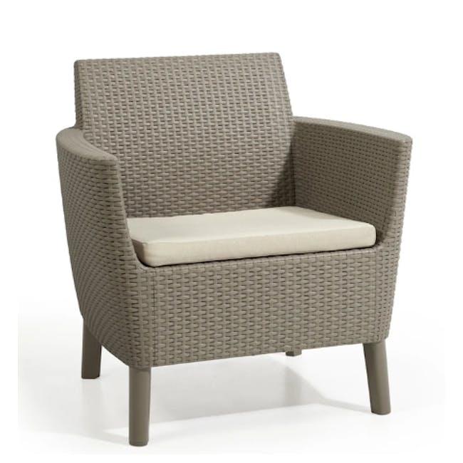 Salemo 3-Seater Lounge Sofa Set - Cappuccino - 4
