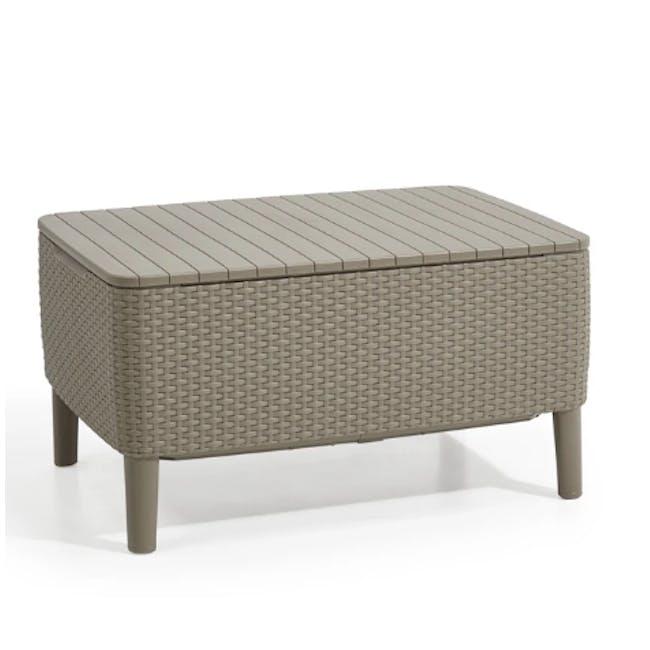 Salemo 3-Seater Lounge Sofa Set - Cappuccino - 6