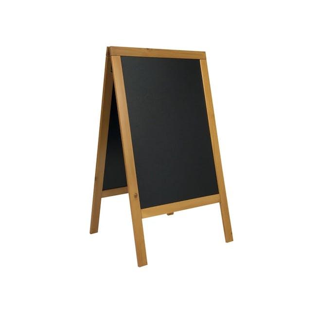 Securit Chalkboard Pine Wood Stand - Teak - 0