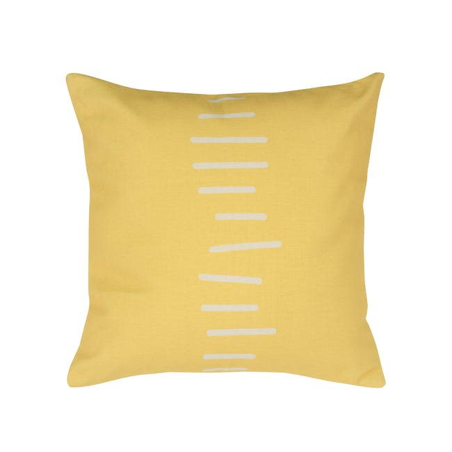 Linie Linen Cushion Cover - Yellow - 0