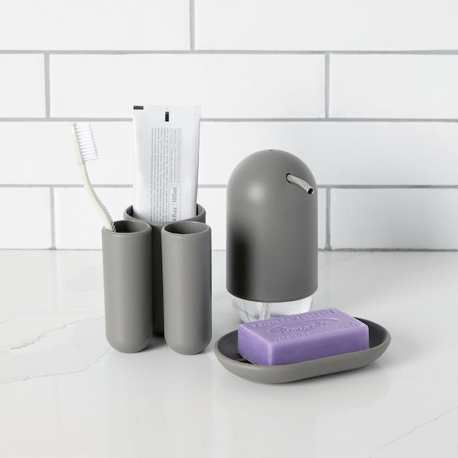 Touch Toothbrush Holder - Grey - 1