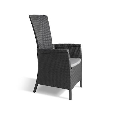 Vermont Rattan Chair - Graphite - Image 2