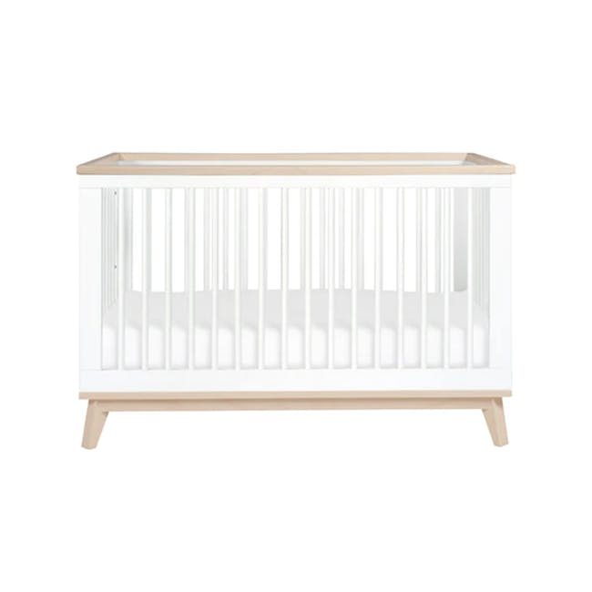 Babyletto Scoot 3-in-1 Convertible Crib - White/Washed - 0