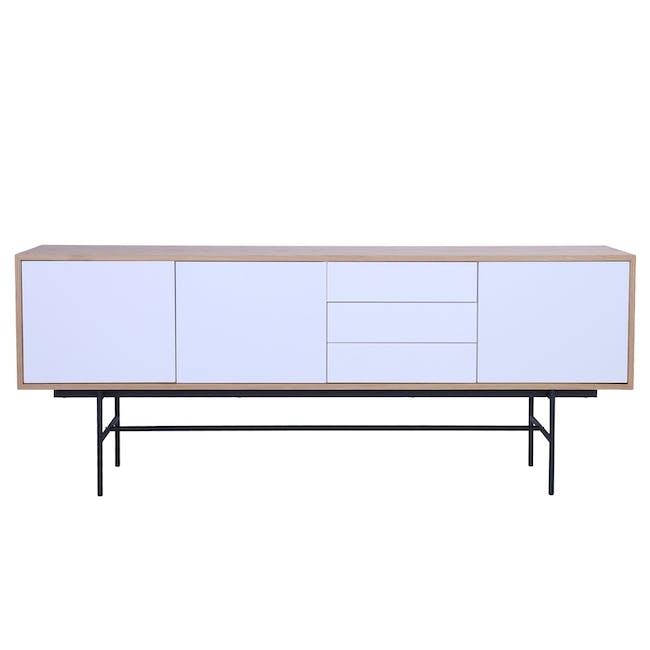 Bacchus Sideboard 2m - Oak, White - 5