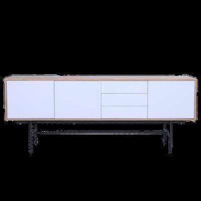 Bacchus Sideboard 2m - Oak, White - Image 2