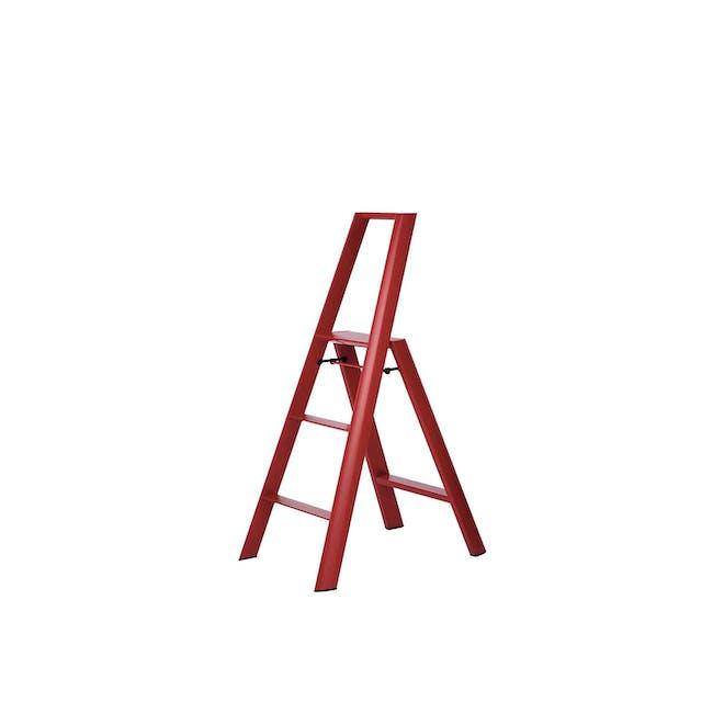 Hasegawa Lucano Aluminium 3 Step Ladder - Red - 0