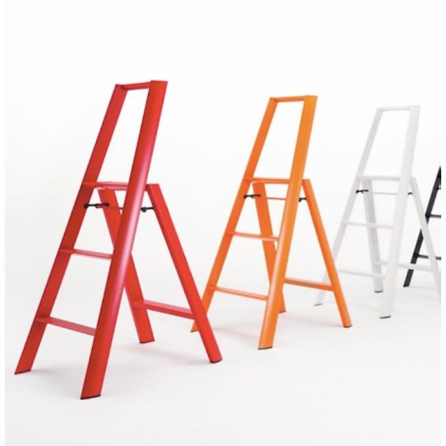 Hasegawa Lucano Aluminium 3 Step Ladder - Red - 3