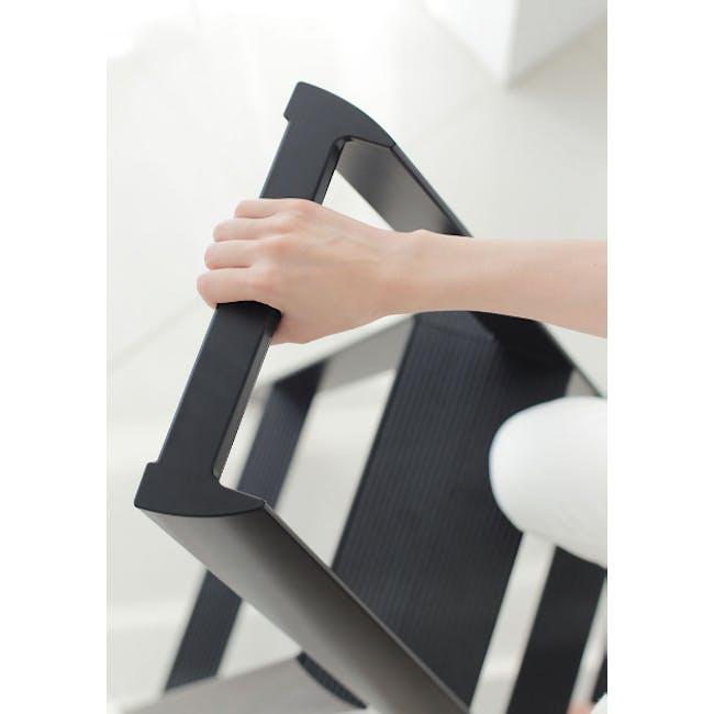 Hasegawa Lucano Aluminium 3 Step Ladder - Red - 2