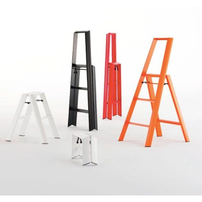 Hasegawa Lucano Aluminium 3 Step Ladder - Red - 6
