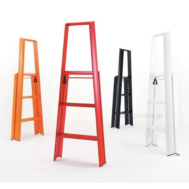 Hasegawa Lucano Aluminium 3 Step Ladder - Red - 4