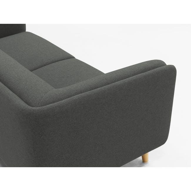 Audrey 3 Seater Sofa - Granite Grey - 5