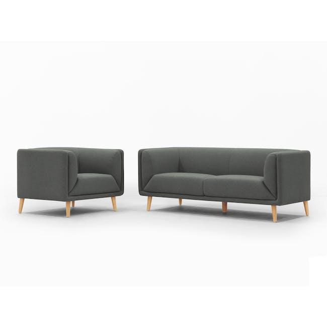 Audrey 3 Seater Sofa - Granite Grey - 9
