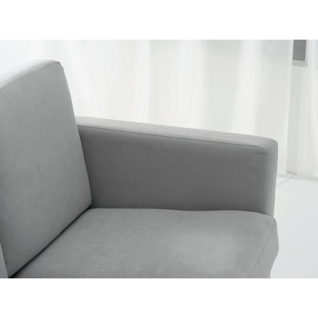 Helen 3 Seater Sofa with Helen 2 Seater Sofa - Silver Fox - 8