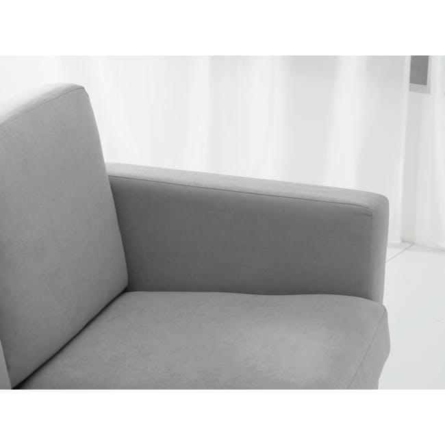 Helen 3 Seater Sofa with Helen Armchair - Silver Fox - 8