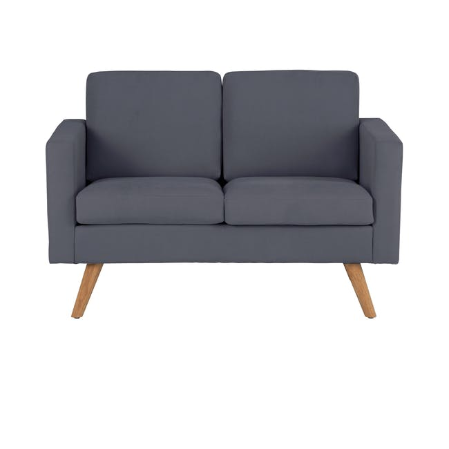 Helen 2 Seater Sofa with Helen Armchair - Hailstorm - 3