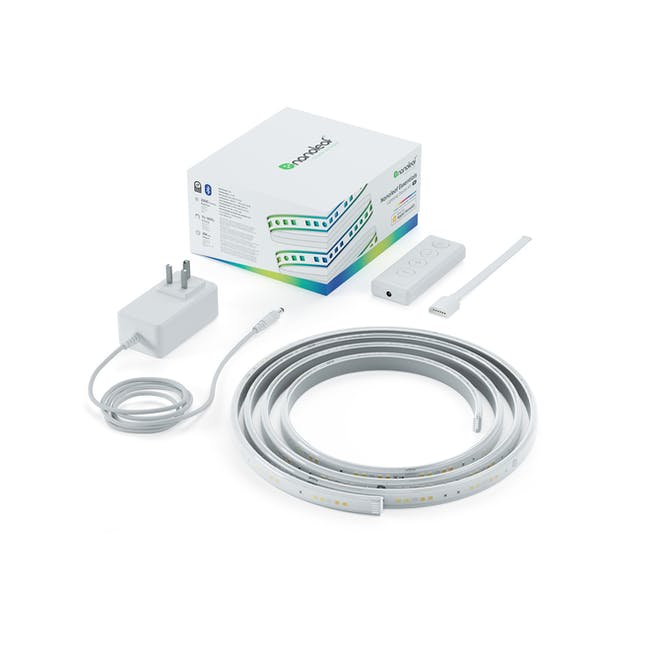 Nanoleaf Essentials Smart LED Colour & White Ambiance Light Strip Starter Kit (2m) -  Thread & Bluetooth-enabled - 0
