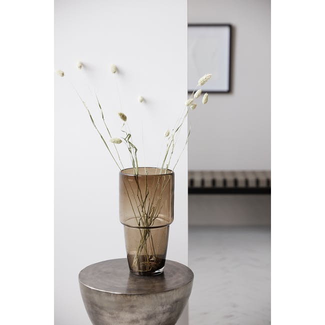 Chazia Tall Vase - Brown - 2